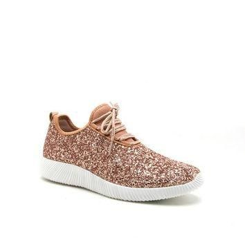 SHIMMER AND SHINE ROSE GOLD SNEAKER