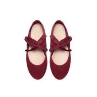 SUEDE MARYJANE WITH BOW