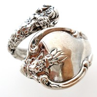 International Sterling Silver Spoon Ring Vintage