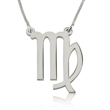 Virgo Zodiac Necklace - Sterling Silver
