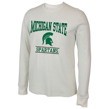 Michigan State Spartans Sage Waffle Long Sleeve Thermal Shirt – White