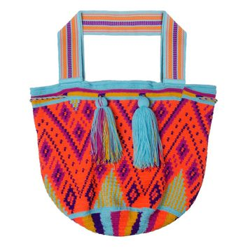 Wayuu Castellano Handwoven Columbian Handbag -  Ka'i Beach Bag