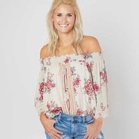 Coco + Jaimeson Off The Shoulder Top - Women's Shirts/Blouses in Wind White | Buckle