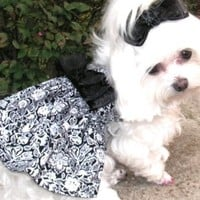 Black and White Parisian Dog Dress all sizes