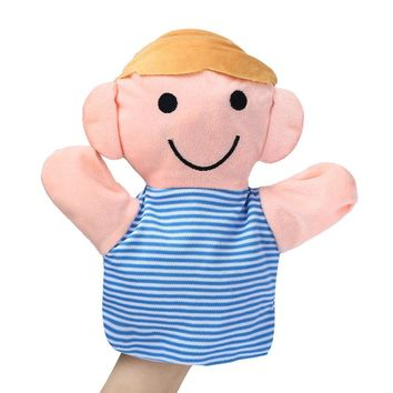 18CM Baby Finger puppet Home Family Finger puppets Infant Kid Toy Plush Toys Gift Baby finget hand toy hand puppet