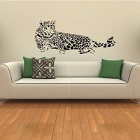 ANIMAL LEOPARD WALL STICKER DECALS ART MURAL T285
