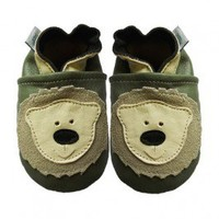Bear Necessities - Soft Leather Baby Shoes