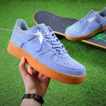 Nike Air Force 1 Low AF1 Blue Sport Shoes - Best Online Sale