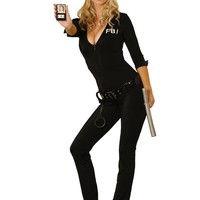 Women's Sexy Fbi Agent Costume (Small,As Shown)