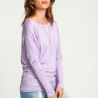 Lilac Dolman Jersey Tee - LoveCulture