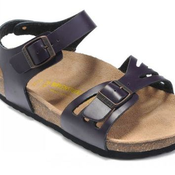Birkenstock Bali Sandals Leather Deep Purple - Ready Stock