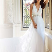 Plunging V-Neckiline Gown by Sophia Tolli