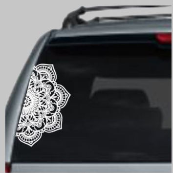 Mandala Car Decal - Mandala Decal - Boho Decal - Mandala Vinyl Decal - Car Decal