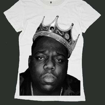 THE NOTORIOUS BIG screen print women t shirt ety188w