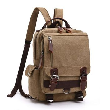Small Buckle Strap Travel Backpack