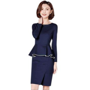 Professional Set Women Dress Wear To Work Office Business Cocktail Party Bodycon Pencil Dress