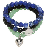 Blackheart Alien & Planet Beaded Bracelet Set
