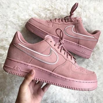 "Nike Air Force 1 07 LV8 Suede Women Sneaker ""Pink""AA1117-601"