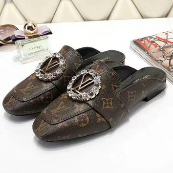 Louis Vuitton Women Fashion Casual Flats Shoes-11