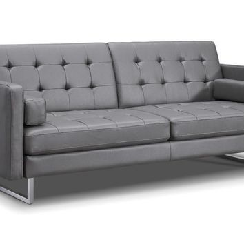 Giovanni Sofa Bed Gray Eco Leather