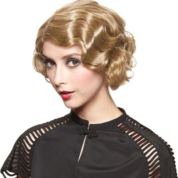 Costume Accessory: Wig Gatsby Girl Golden - 3 Units