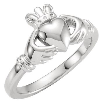 Youth Claddagh Ring in Sterling Silver or Solid Gold