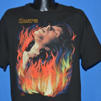 90s The Doors Jim Morrison Set The Night On Fire t-shirt Extra Large
