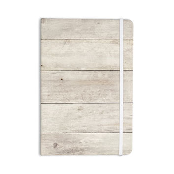 "Susan Sanders ""White Wash Wood"" Beige White Everything Notebook"