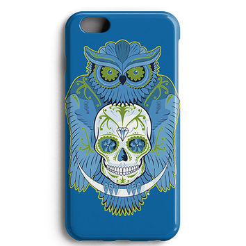 Blue Owl Skull Phone Case