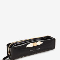 Slim bow pencil case - Black | Gifts for Her | Ted Baker FR