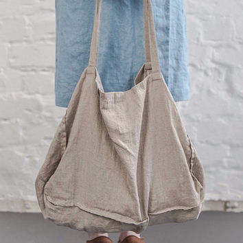 Pure Linen Large Tote - Natural