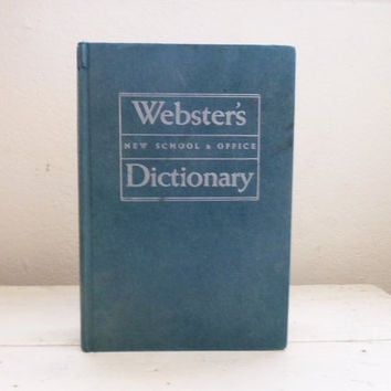 Webster's New School and Office Dictionary - Retro Dictionary, Vintage Office, Graduation Gift Ideas, College Gift Idea