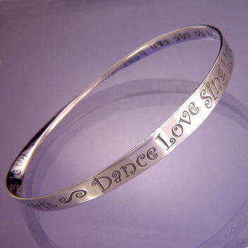 Dance! Love! Sing! Live! Sterling Silver