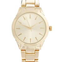 ASOS Gold Sleek Boyfriend Watch