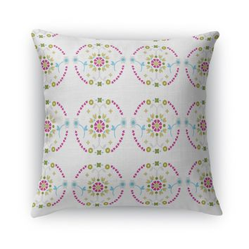 FLORAL MEDALLION Accent Pillow By Heidi Miller