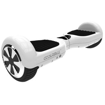 "CoolReall™ Self Balancing Scooter Two 6.5"" Wheel Self Balance Electric Hoverboard Drifting Personal Transporter Mini Unicycle with Certified Safe Battery Pack and Led Lights(White)"