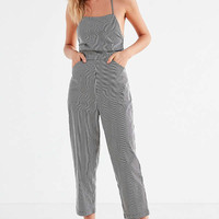 Silence + Noise Strappy Striped Culotte Jumpsuit   Urban Outfitters