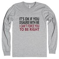 It's OK If You Disagree With Me-Unisex Heather Grey T-Shirt