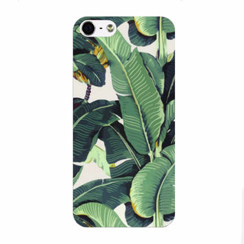 Tropical Bananas & Leaves Cover For iPhone 5 5s 6 6plus  Case