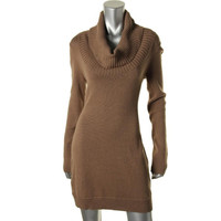 BCBG Max Azria Womens Knit Cowl Neck Sweaterdress