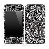 Black and White Paisley Print Skin for the iPhone 3gs, 4/4s, 5, 5s or 5c