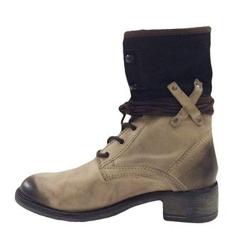 LMFYW3 Matisse Mechanic Tan Floppy Combat Boots