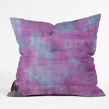 Allyson Johnson Purple Paint Throw Pillow