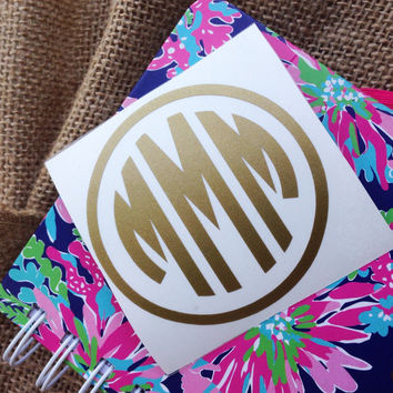 Car Decal Monogram Decal Monogram Vinyl Vinyl Decal Monogram Gift Monogram sticker Car sticker Car Initials Vinyl Initials Vinyl Lettering
