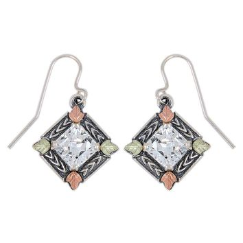 Black Hills Gold Sterling Silver Cubic Zirconia Earrings
