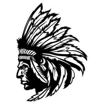 India Redskin Native American Indian Chief Wall Decal Art Vinyl Wall Stickers Personalized Home Decor Decals WY-13