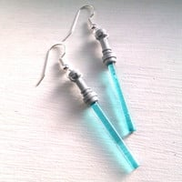 LIGHT BLUE Star Wars Lightsaber Earrings