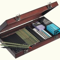Daler-Rowney Pencil Wooden Box Set - Sketching | Rex Art Supplies