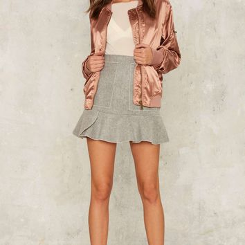 Let it Satin Bomber Jacket