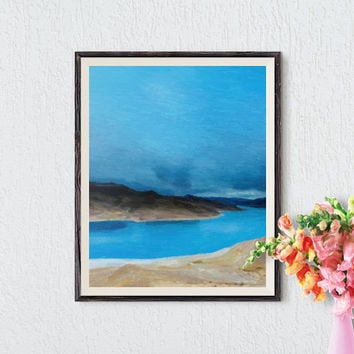 Landscape Printable Art, Abstract Landscape Painting, Wall Decor, Interior Design, Wall Art Prints, Printable Art, Instant Download